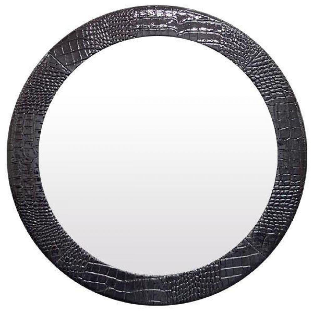 IG7326 가죽 벽거울 31cm 블랙 제조한국 벽거울 가죽거울 레더거울 원목거울 인테리어거울