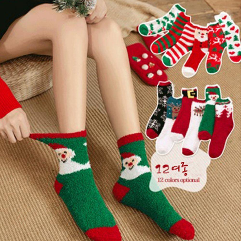 마니판다 겨울양말 크리스마스 수면양말 12여종 수면양말 극세사양말 니트양말 겨울양말 양말 남자양말 여자양말
