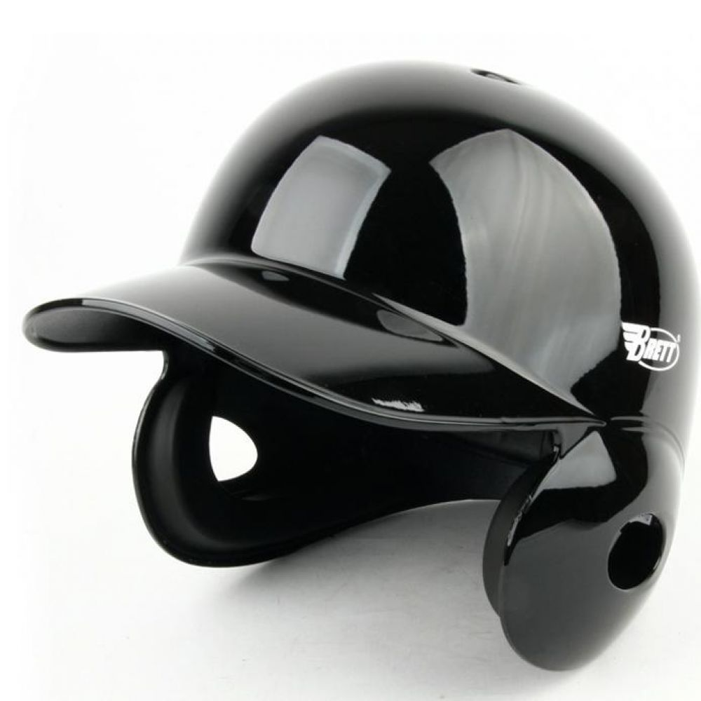 양귀형 브렛 야구헬멧 유광블랙 타자헬멧 야구용품 야구헬멧 스포츠헬멧 타자헬멧 타자보호헬멧 양귀헬멧