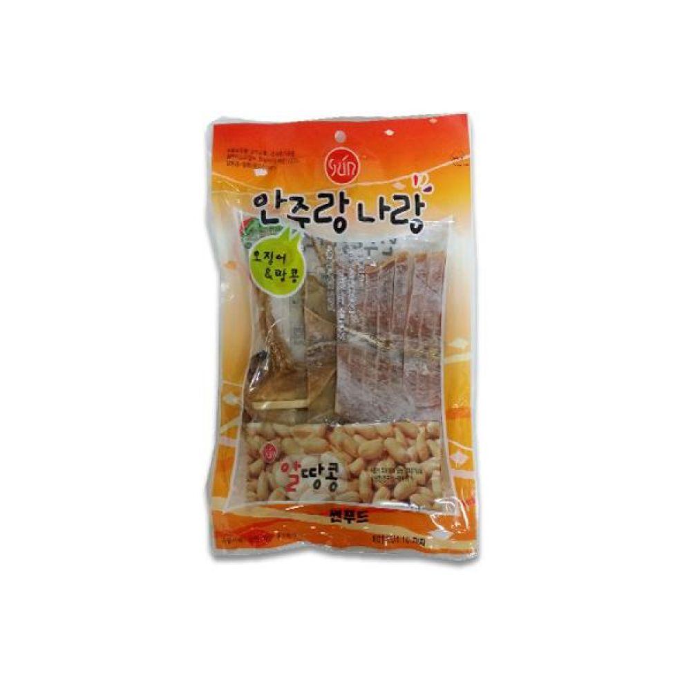 썬푸드) 오징어땅콩 75g x 10개 술안주나 아이들 영양간식으로도 일품 간식 마른 안주 자반 안주도매