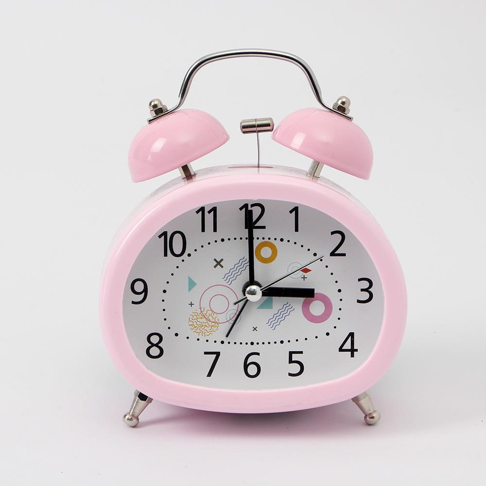 해머벨 무소음 탁상시계 알람시계 스틸 자명종 탁상시계 책상시계 인테리어소품 알람용시계 시계