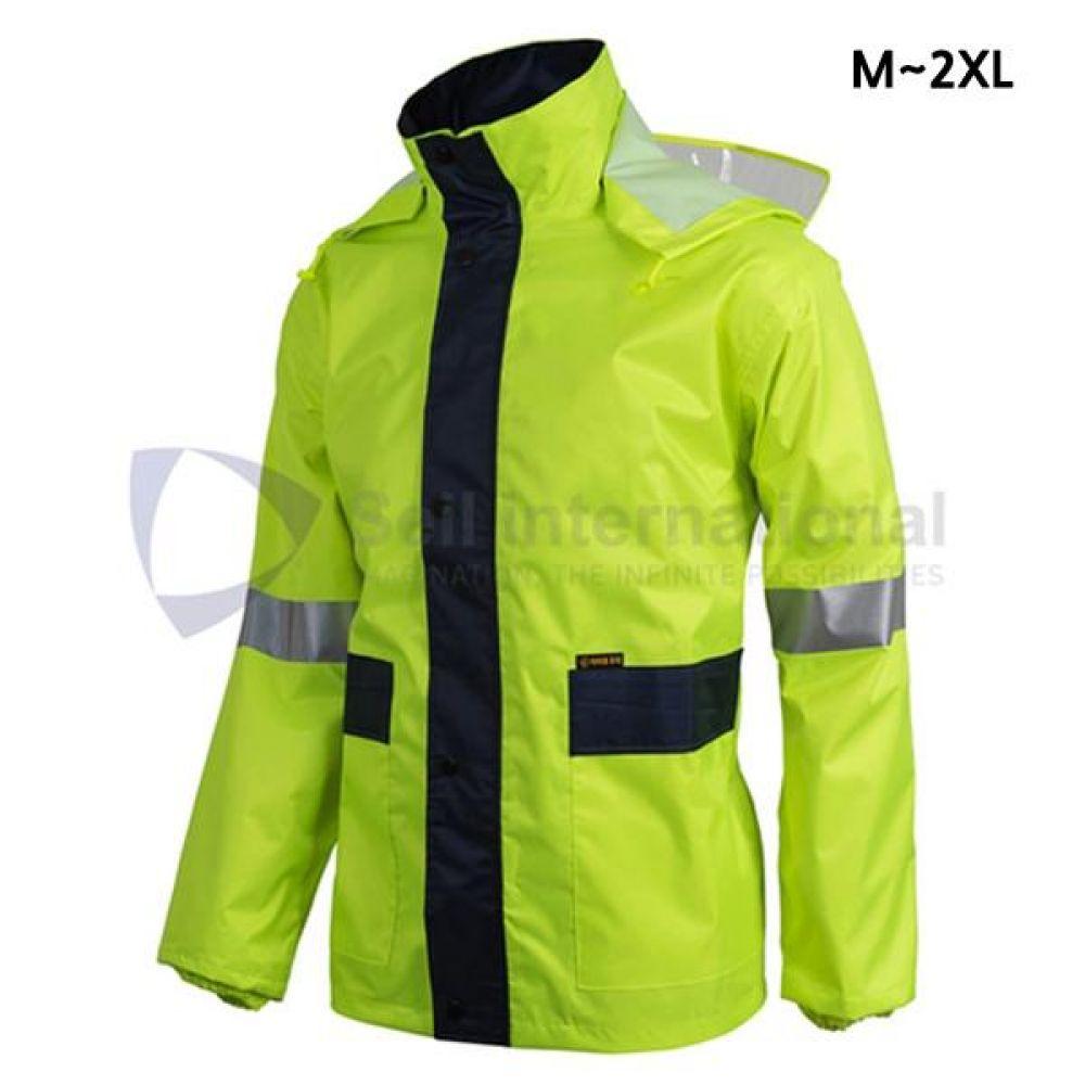 제비표 우의 Si-170JK 산업용 M_2XL 비옷 개인보호구 보호복 우의 비옷 분리식우의 남성레이코트 남성비옷