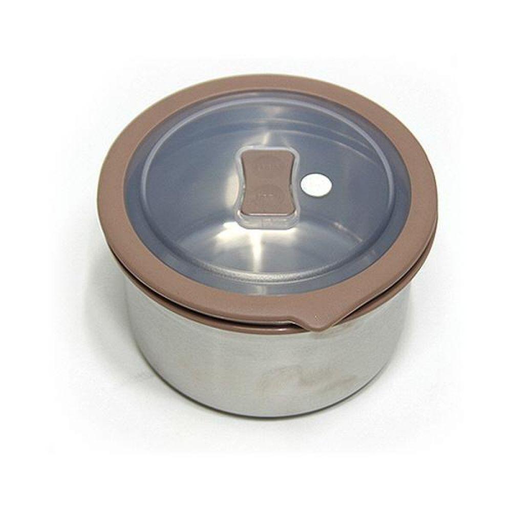 스텐레스 밀폐용기 원터치 원형6호 1040ml 사각밀폐용기 유리밀폐용기 보관용기 밀폐용기세트 원형밀폐용기
