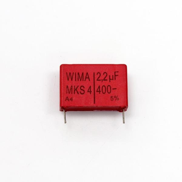 위마 콘덴서 캐패시터 Wima 400V 2.2uF / MKS4 콘덴서 오디오 캐패시티 audio 위마 WIMA 독일