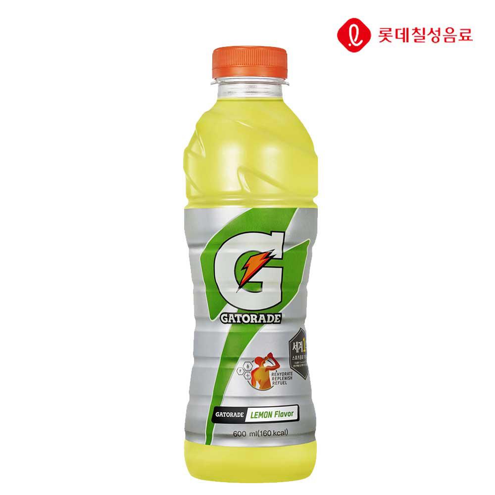 게토레이 레몬 600ml X 20개 음료 이온음료 게토레이 이온음료수 음료수