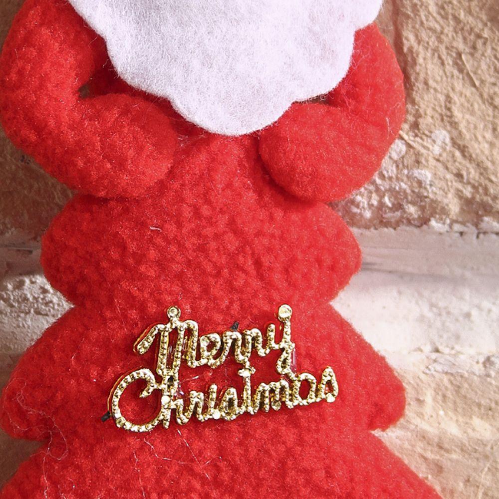 MWSHOP 트리 로고 산타 9cmx15cm 크리스마스인테리어장식 엠더블유샵