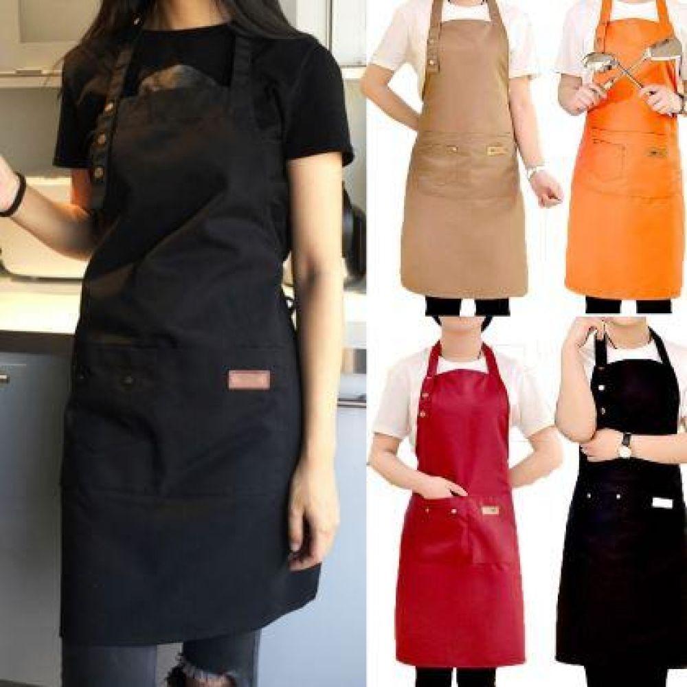 앞치마 요리 주방 카페 미용사 바비큐 패션 부엌 방수 앞치마 주방 작업 보호 방수 디자인 용품