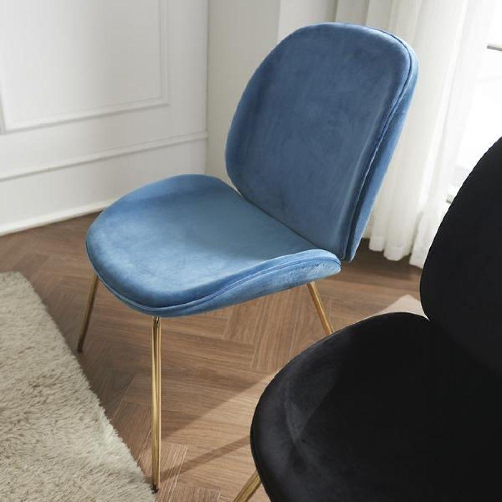 심플라인 벨벳 골드 철제 의자 의자 식탁의자 좌식의자 원목의자 책상의자