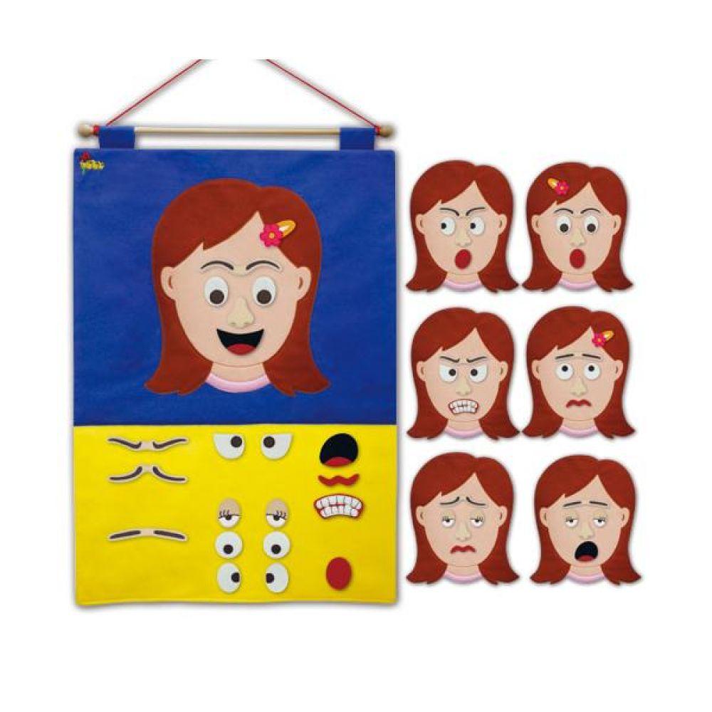 다양한 표정 탈부착 차트 완구 문구 장난감 어린이 캐릭터 학습 교구 교보재 인형 선물