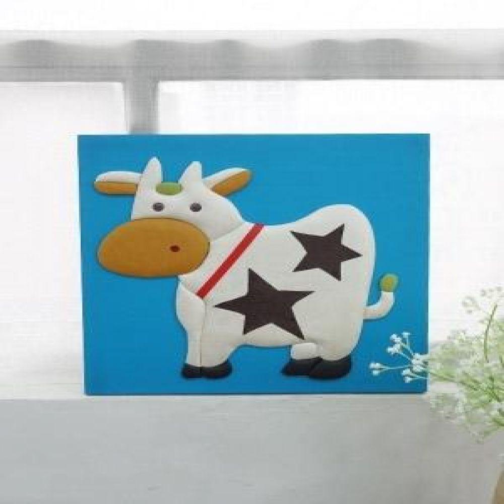 젖소 가죽 입체 액자 그림액자 벽걸이액자 벽장식소품 스탠드액자 인테리어소품