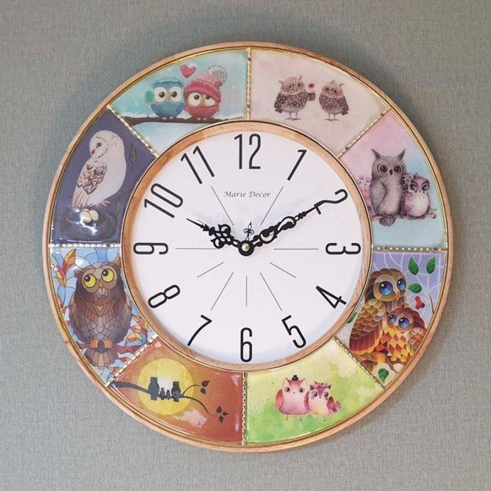 부엉이 갤러리 벽시계 (내추럴) 벽시계 벽걸이시계 인테리어벽시계 예쁜벽시계 인테리어소품