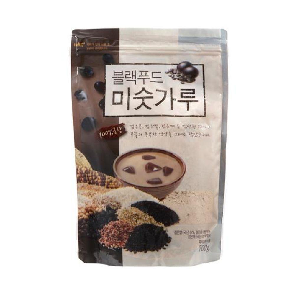 블랙푸드 미숫가루 700g 국산 검은콩 검은깨 흑미와 12가지 곡물로 만든 맛있고 바른 먹거리 건강 곡물 간편식 잡곡 한끼