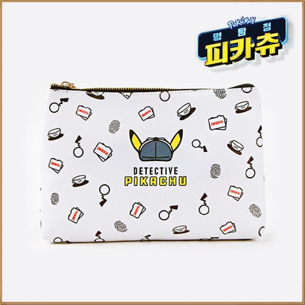 포켓몬스터 명탐정 피카츄 파우치 - 1 (화이트) 캐릭터 캐릭터상품 생활잡화 캐릭터제품 잡화