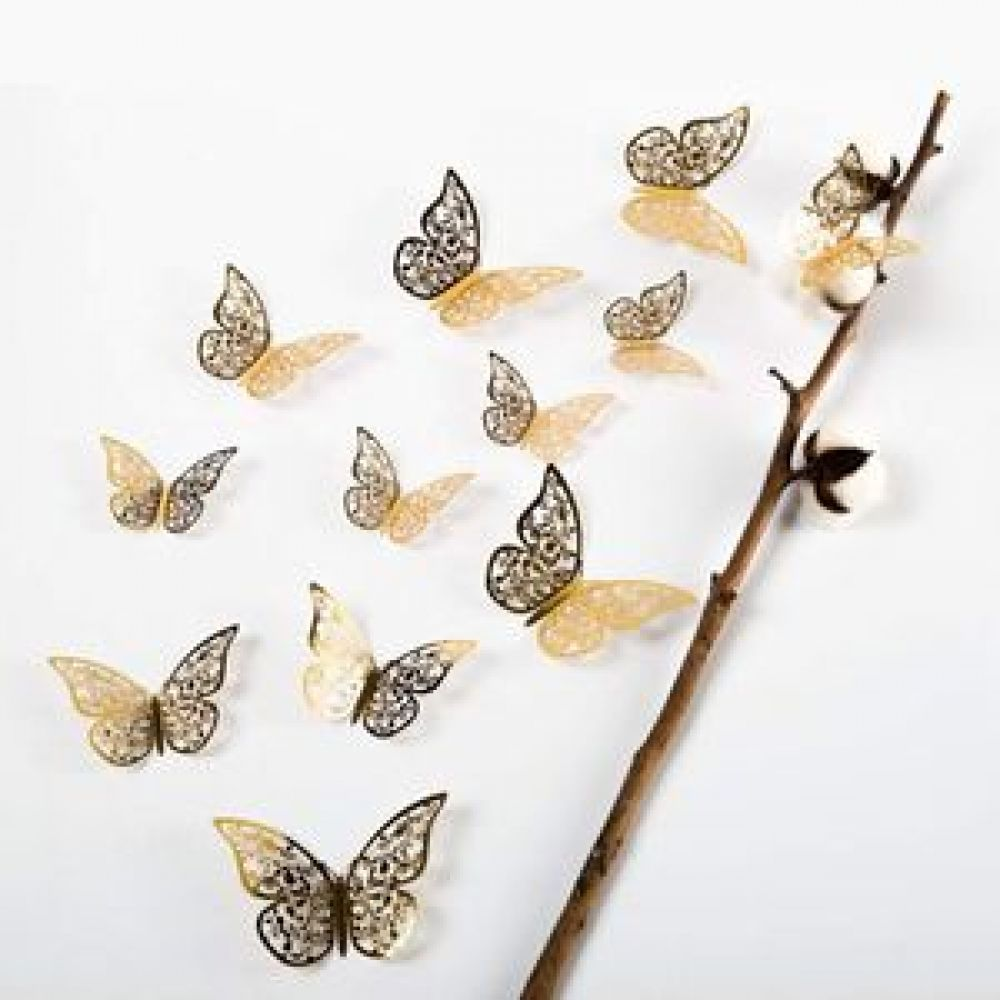 3D 나비 인테리어모빌 스티커 나비스티커 벽면꾸미기 창문꾸미기 창문데코 데코스티커 포인트스티커