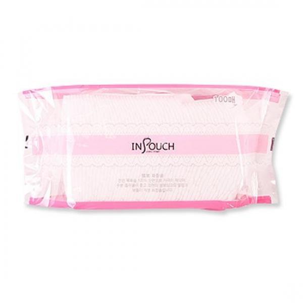엠보 화장솜 (100매) 스킨팩 미용솜 면봉 퍼프 거즈
