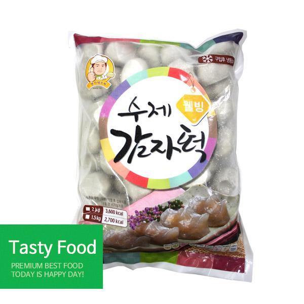 (냉동)명가에프씨 웰빙감자떡2kgX5개 분식 명가에프씨 감자떡 식자재 식품