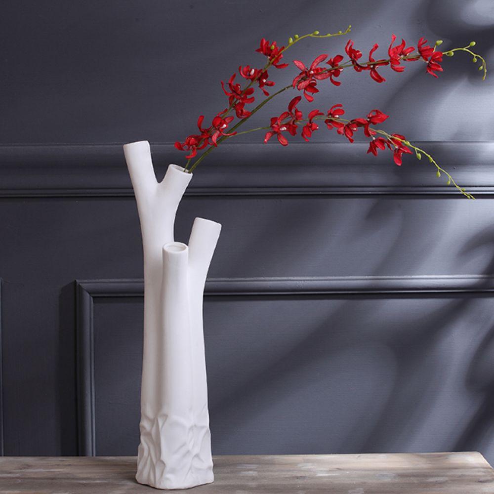 아트피플-V18 나무 도자기 인테리어 꽃병 화병 꽃병 도자기꽃병 도자기화병 인테리어꽃병