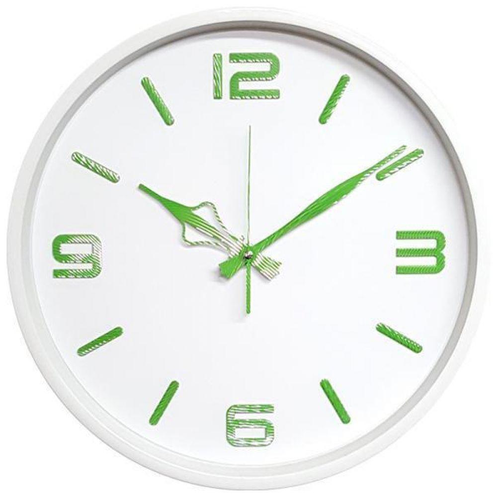 GB4587 무소음 고급인덱스 벽시계36.5cm 화이트 그린 벽시계 무소음벽시계 인테리어벽시계 모던벽시계 메탈벽시계