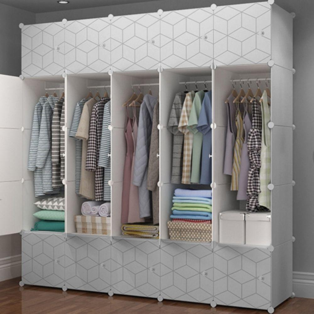 DIY 하우스룸 육각무늬 선반 옷장(183x47x183cm) 선반 옷장 육각선반 화이트선반 화이트옷장