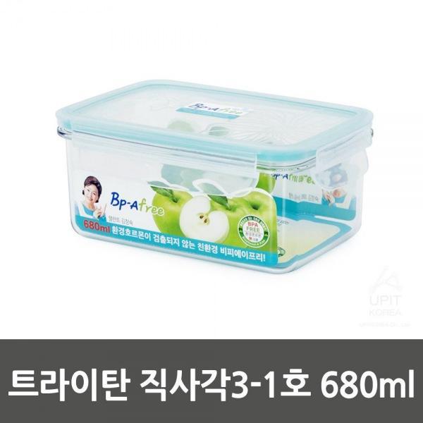 트라이탄 직사각3-1호 680ml_9050 생활용품 잡화 주방용품 생필품 주방잡화