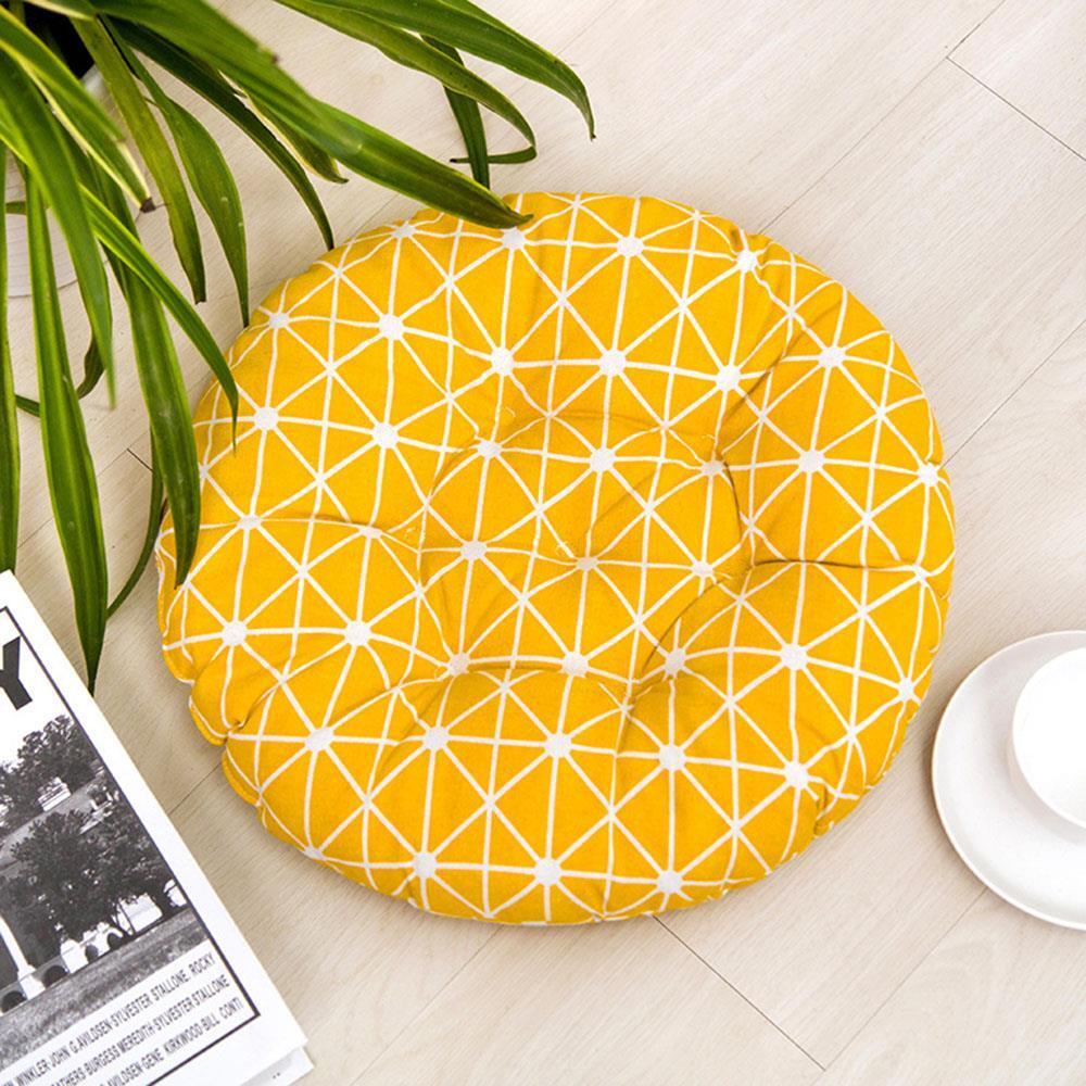 다이아몬드 원형방석 옐로우 사무실방석 식탁방석 학원방석 학생용방석 의자방석 디자인방석 식탁방석