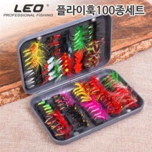 LEO 플라이훅 100종 세트 하드케이스포함 플라이 미끼 플라이훅 플라이낚시 미끼 낚시미끼 루어