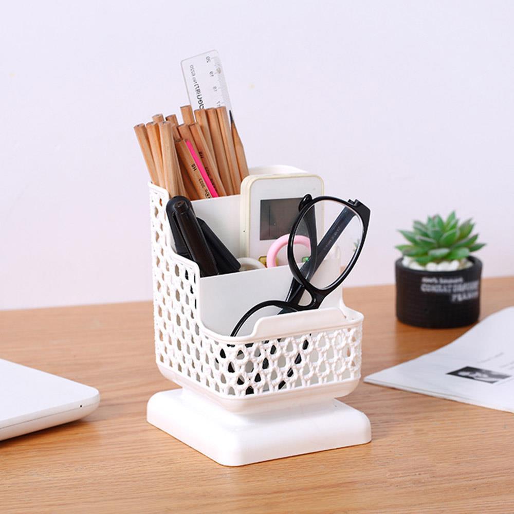 연필꽂이 휴대폰거치 3단 펜꽂이 볼펜꽂이 책상정리 연필통 볼펜꽂이 펜정리함 사무용품 문구용품