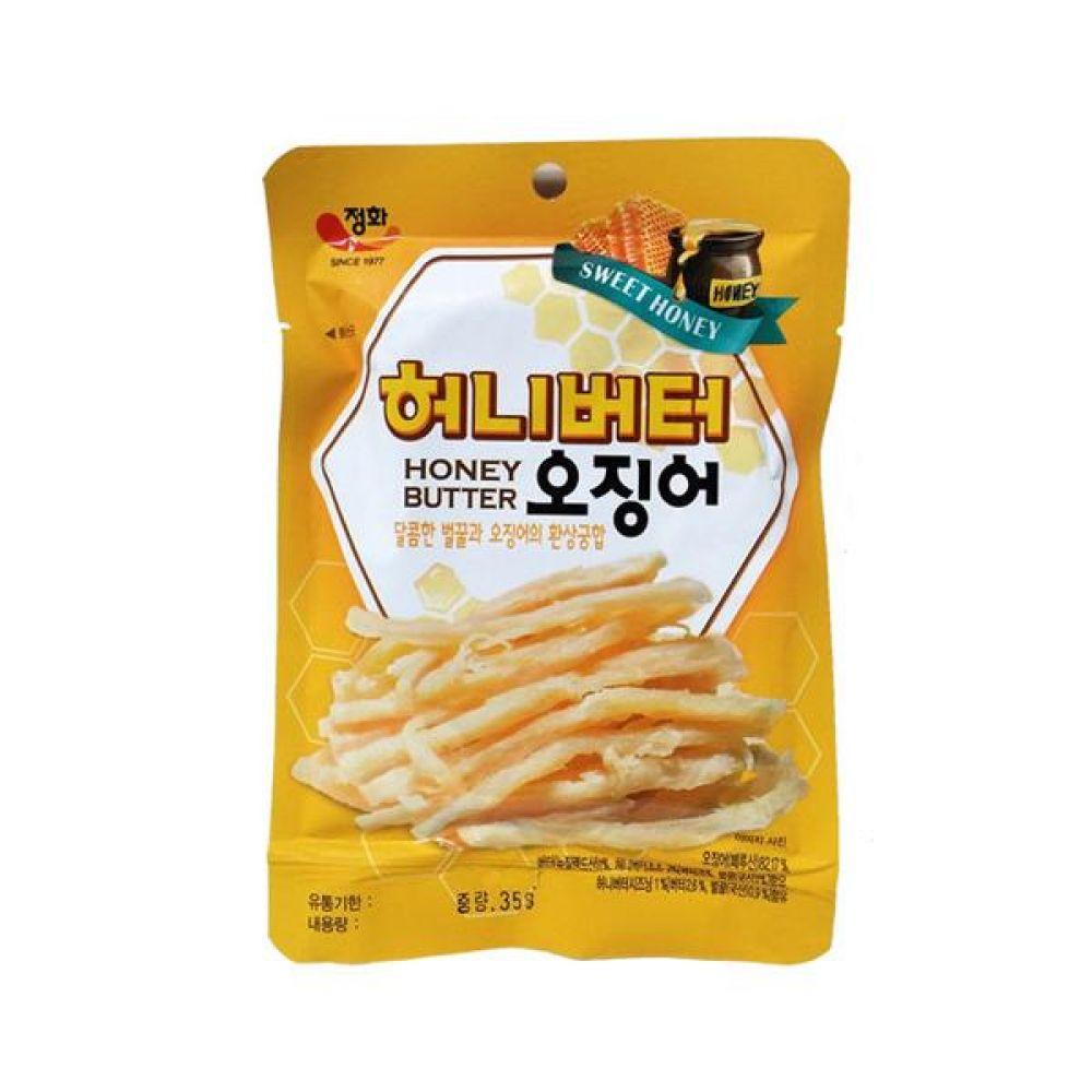 정화)허니버터 오징어30g x 10봉 과자 간식 스낵 도매 안주