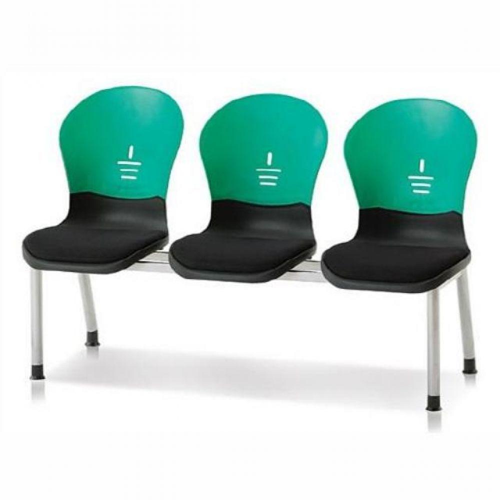 3인용 연결의자 테트라(사출-인조가죽) 602 로비의자 휴게실의자 대기실의자 장의자 3인용의자 2인용의자 약국의자 대합실의자