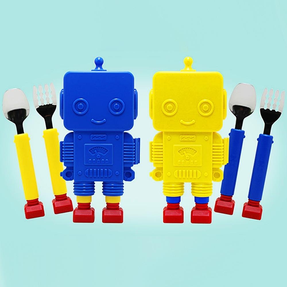 (플렉사) 로봇 스푼 포크 케이스세트 (200909) 잡화 생활잡화 캐릭터 캐릭터상품 생활용품