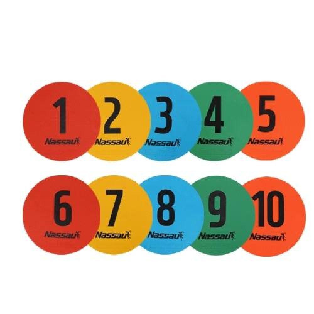 방과후 스포츠 낫소 숫자 라운드마커 10개입 스포츠용품 운동용품 실내체육용품 체육놀이 어린이스포츠놀이 숫자라운드마커 방과후스포츠