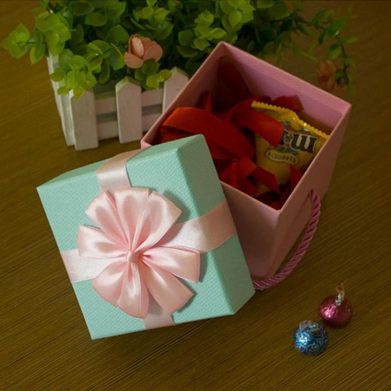 포장박스 꽃리본 선물상자 핑크 10x10 상품권박스 상품권박스 선물상자 포장상자 포장박스 상품권케이스