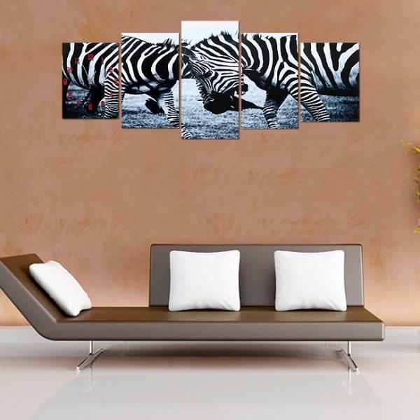 JHC컴퍼니 지브라 디자인 병풍 벽시계 벽시계 탁상시계 시계 클래식시계 엔틱벽시계