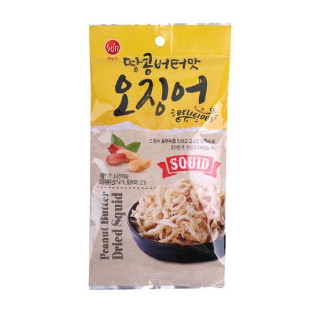썬푸드)땅콩 버터맛 오징어 20g x 10개 과자 스낵 군것질 박스단위 도매