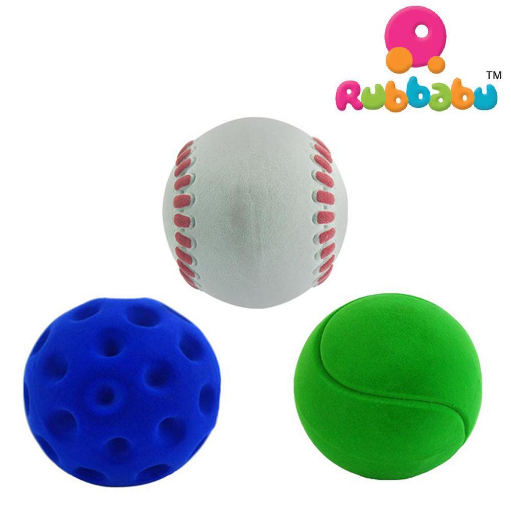 루바부 스포츠 공세트 (대) (골프 야구 테니스) (20311-2) 소프트공 유아공 아기공 헝겊공 유아완구