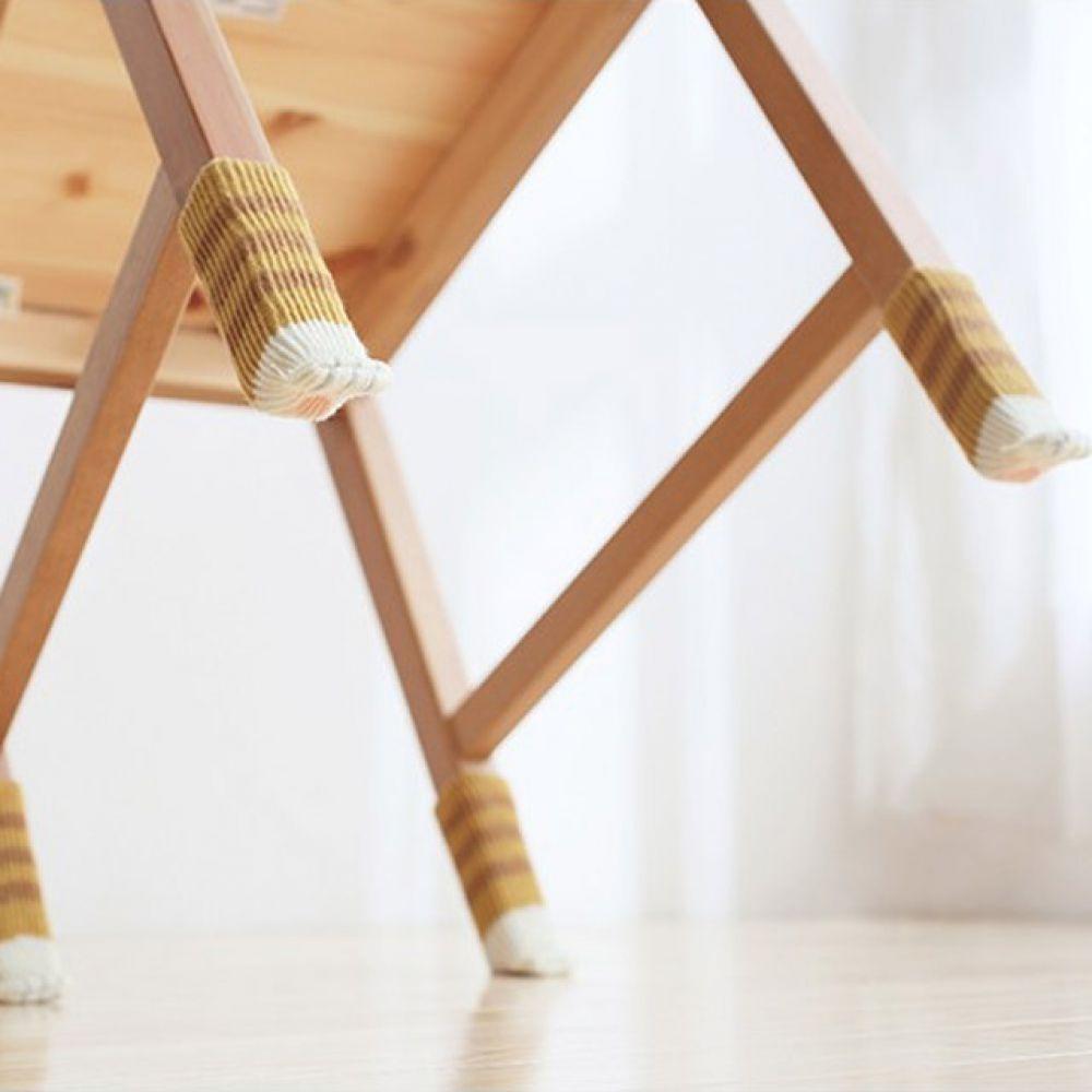 긁힘 소음방지 고양이발 의자커버 4P 의자양말 의자발커버 의자다리커버 의자발받침 식탁의자발커버 의자발캡 식탁의자다리커버 의자다리캡 의자미끄럼방지 의자소음방지