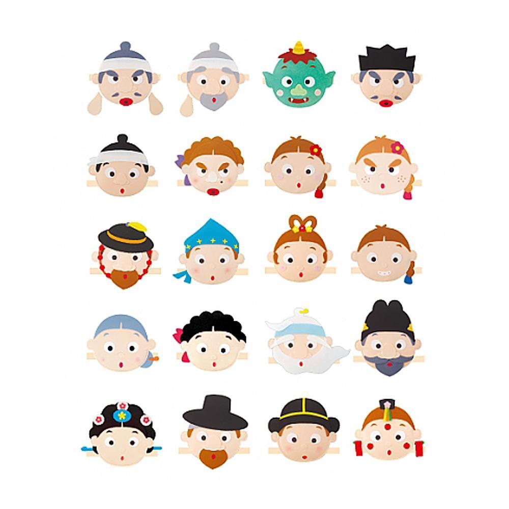 완구 어린이 유아 교구 전래동화 머리띠 20종 유아원 유아원 장난감 2살장난감 3살장난감 4살장난감