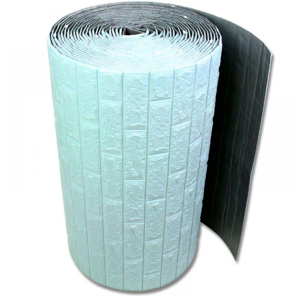접착식 대형롤 폼블럭 벌크형 파스텔블루 폼블럭 단열벽지 시트지 벽돌폼블럭 폼벽지 접착식벽지