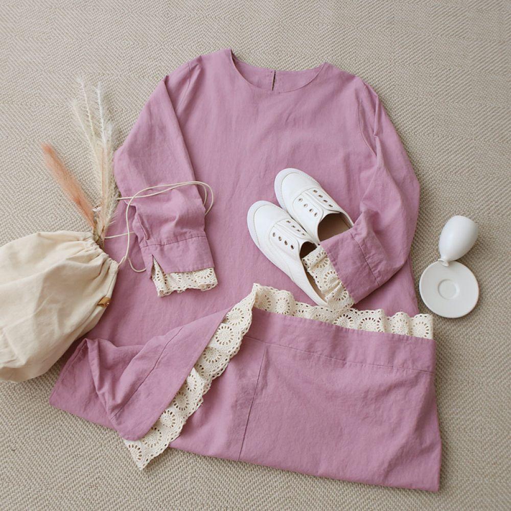 베이비돌 레이스 원피스 1048024 DRESS 면원피스 코코아 Cocoa 생지 Light beige 핑크 Pink 캐주얼