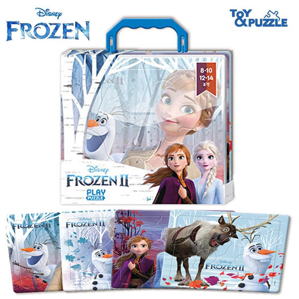 토이앤퍼즐 디즈니 겨울왕국2 미니 가방퍼즐 4P (8.10.12.14조각) 직소퍼즐 퍼즐 퍼즐놀이 캐릭터 아동퍼즐