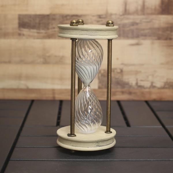 JHC컴퍼니 웨이브 인테리어 모래시계(30분) 벽시계 탁상시계 시계 클래식시계 엔틱벽시계