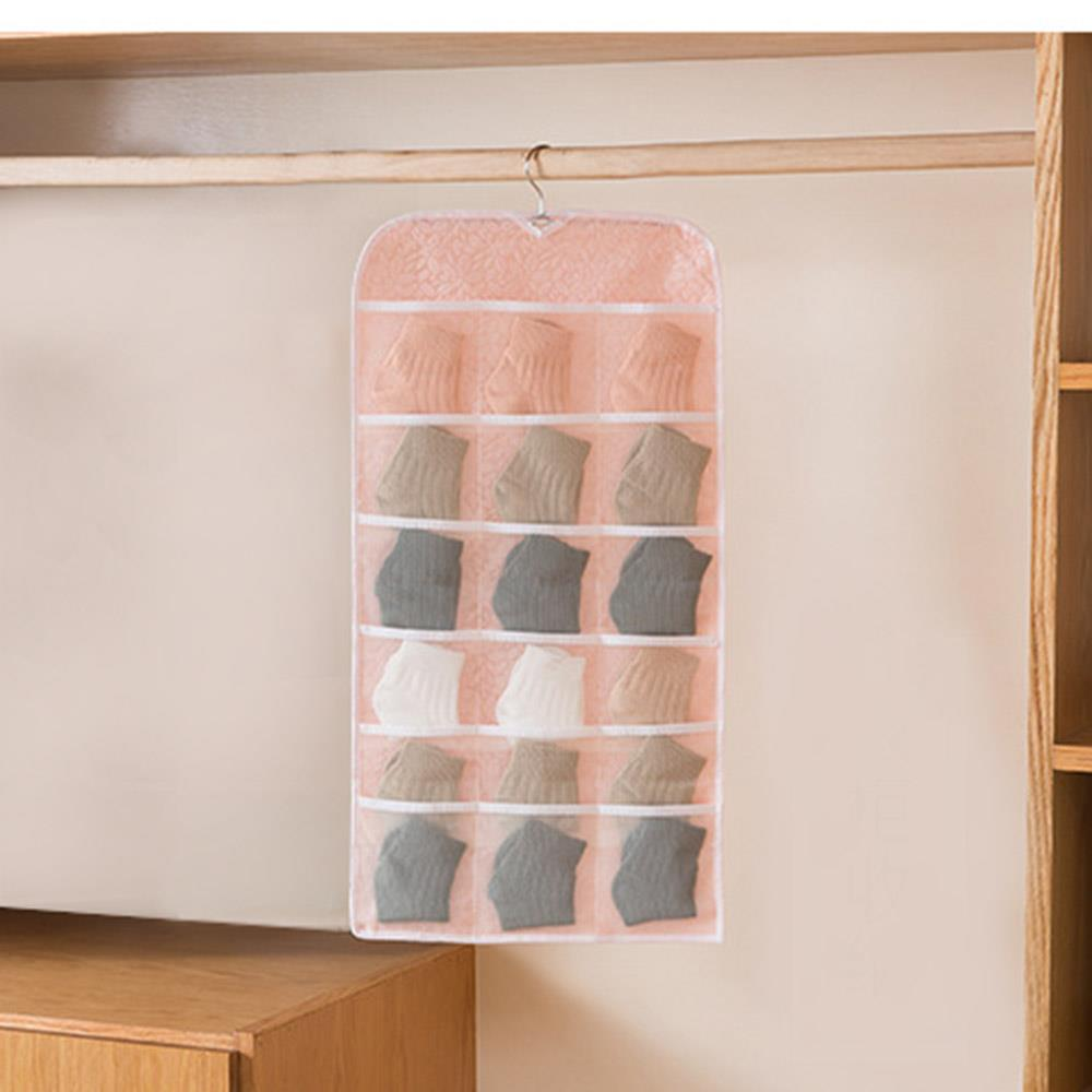 핑크 30칸 수납걸이 옷장 걸이형포켓 벽걸이수납함 걸이형다용도수납함 걸이형수납포켓 옷장정리 옷장걸이 속옷정리함