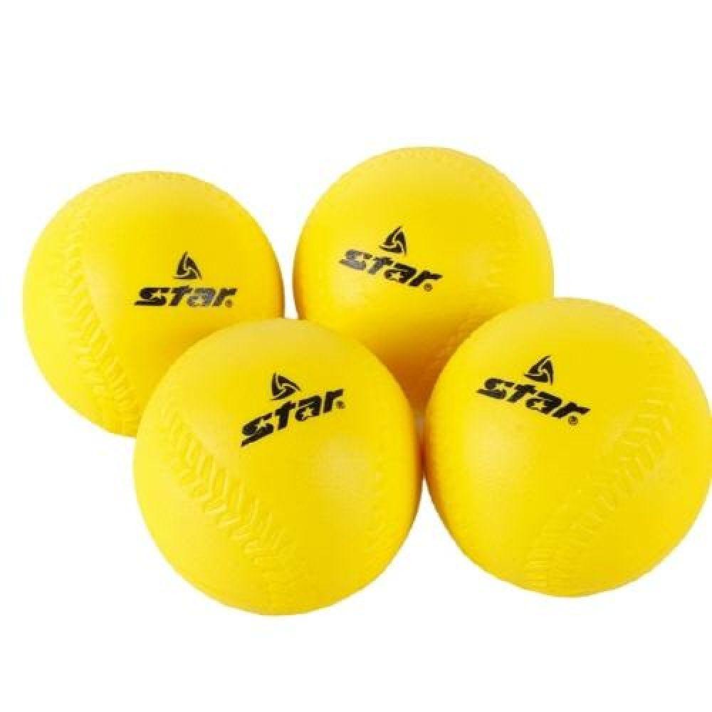 티볼 대회 공인구 스타 티볼 4P 옐로우 스포츠용품 운동용품 실내체육용품 체육놀이 어린이스포츠놀이 티볼
