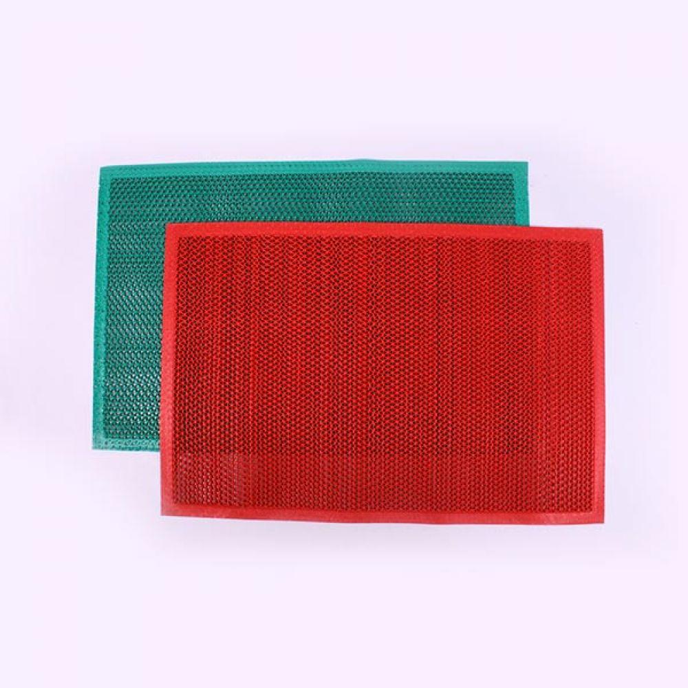 PVC 매트 레드 90x120 바닥매트 메쉬매트 거실매트 바닥매트 메쉬매트 거실매트 코일매트 매트