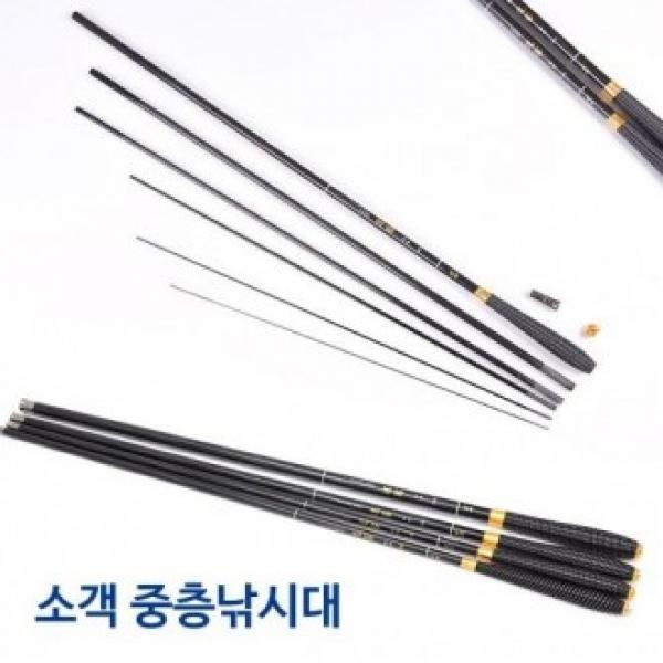 중층낚시대 소객2 카본재질 민물낚시대 바다낚시대 민낚시대 민물낚시 낚시대 민물낚시대 민장대