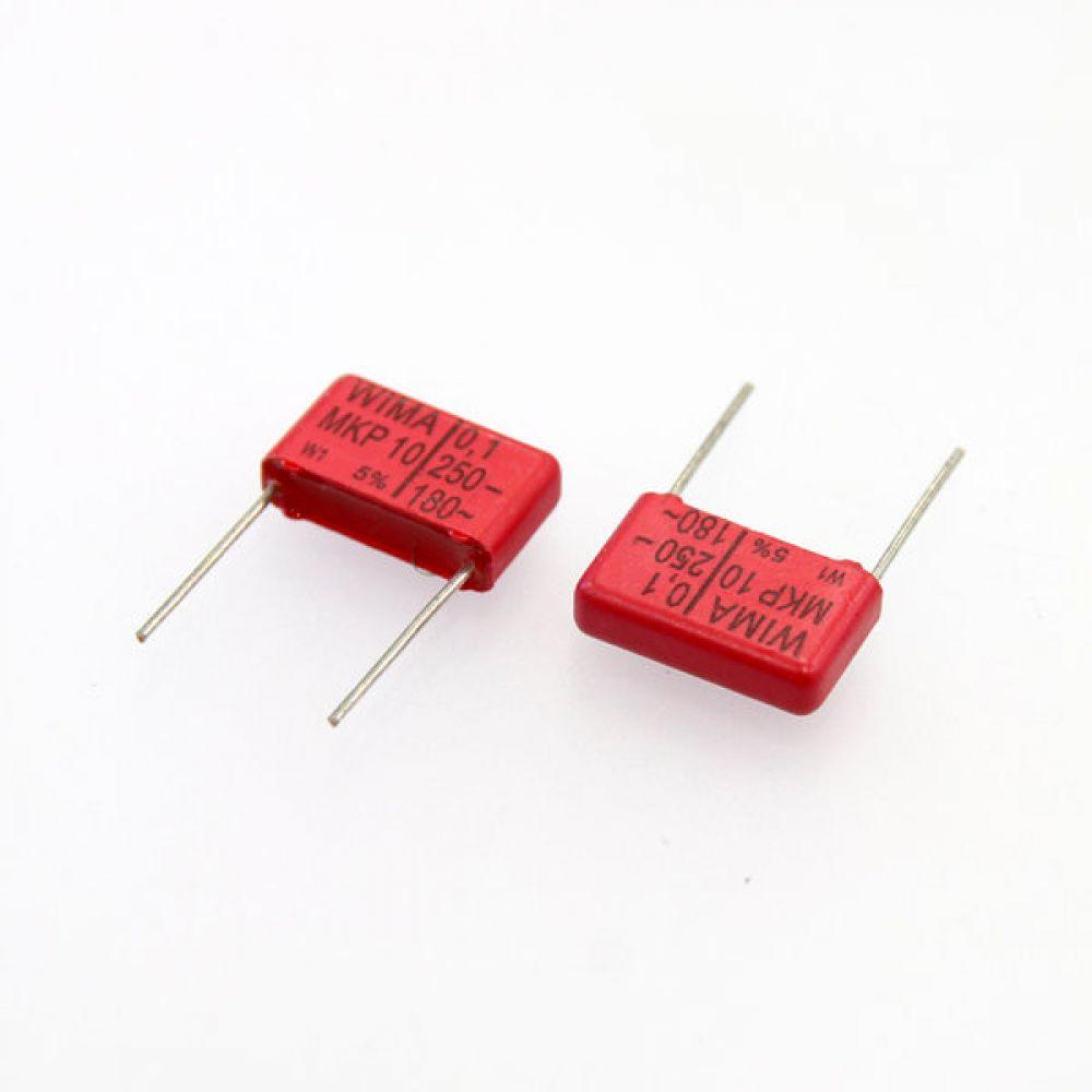 독일 위마 콘덴서 캐패시터 250V 0.1uF MKP10 2개씩 5묶음 콘덴서 오디오 캐패시티 audio 위마 WIMA 독일