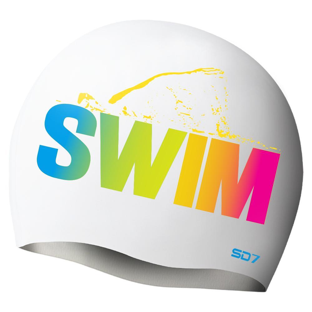 SGL-CA264 스윔자유형-WHITE  SD7 실리콘수모 실리콘수모 수영모자 수영용품 수영모 수영수모