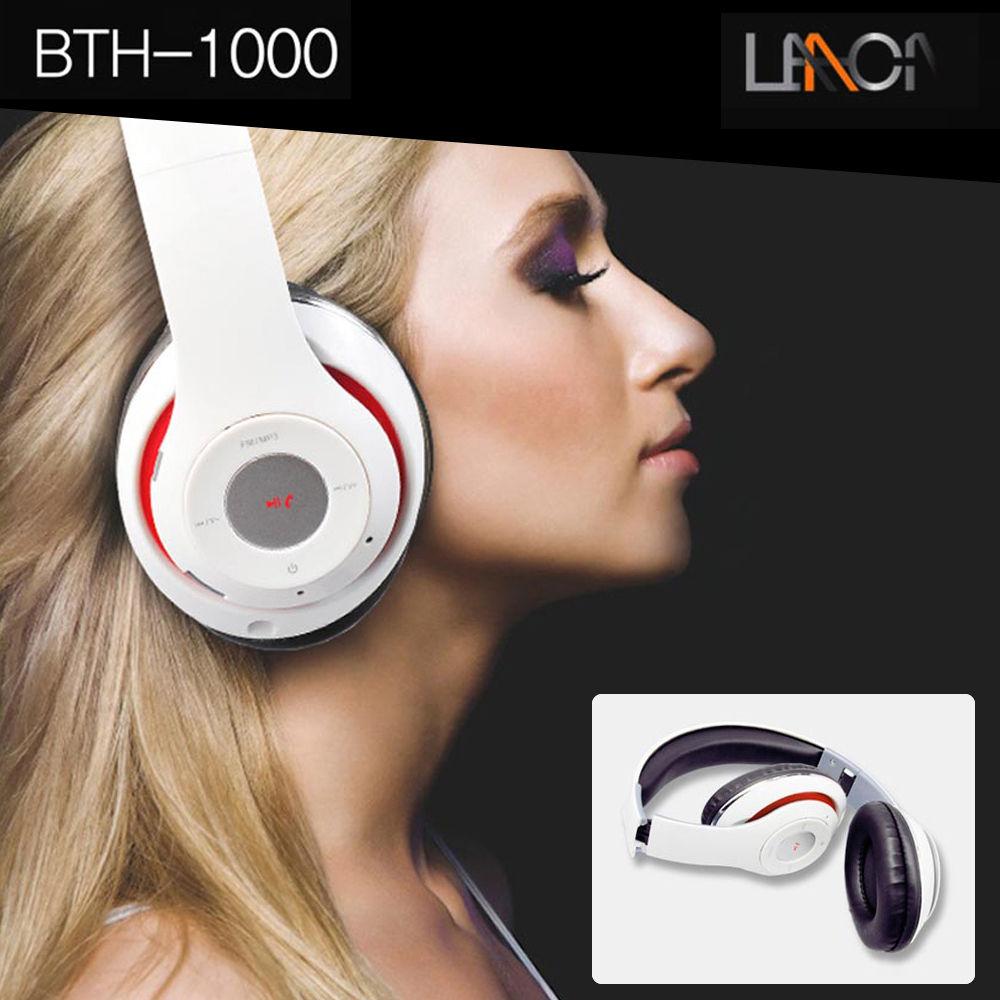 블루투스 접이식 헤드셋 BTH-1000 화이트 휴대폰 블루투스 휴대폰 모바일 헤드셋 스마트폰