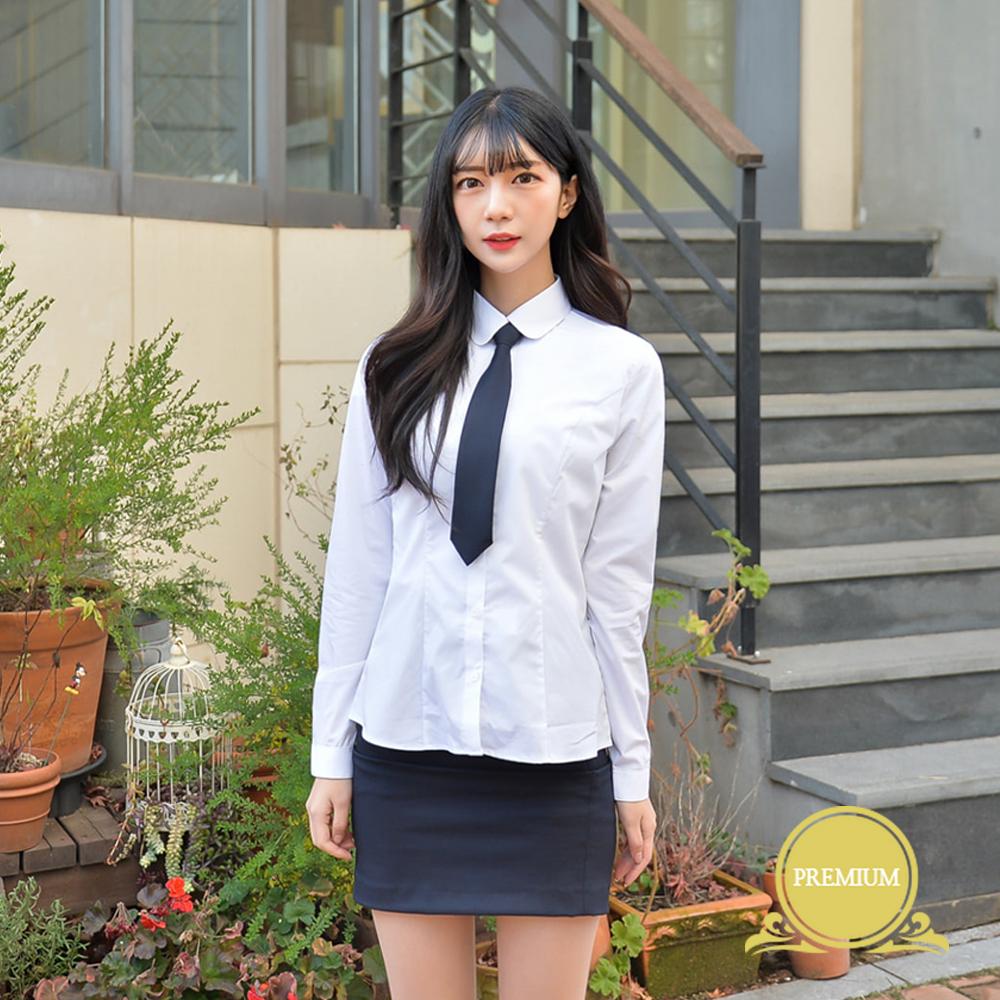 프리미엄 스판 여성 둥근카라 셔츠 (컬러체크) 교복셔츠 교복 교복쇼핑몰 교복와이셔츠 남자교복 학생복 교복남방 교복블라우스 여자교복 고등학교교복