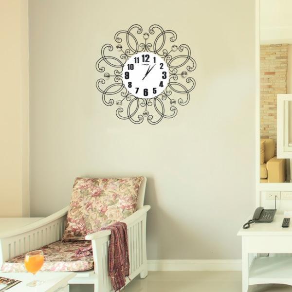JHC컴퍼니 로맨틱 크리스탈 벽시계(62cm) 벽시계 탁상시계 시계 클래식시계 엔틱벽시계
